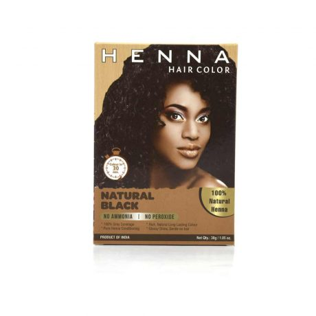 Henna Natural Black Hair Color Ammonia Peroxide free