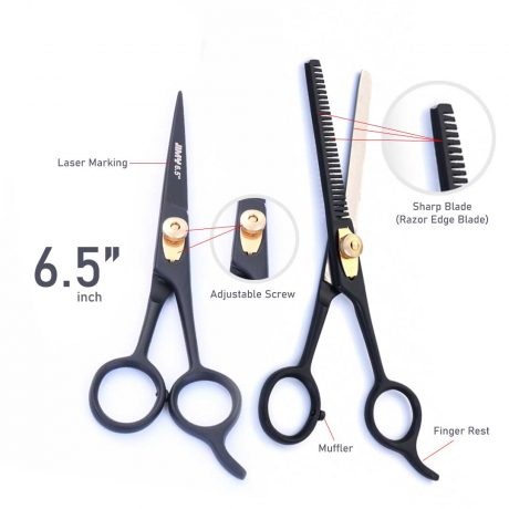 Barber Hair Cutting Scissor & Thinning Scissor Set