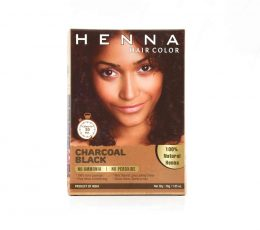 Professional Henna Charcoal Black Hair Color for men & women